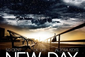 Alica Keys 50 Cent Dr.Dre New Day artwork