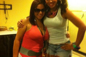Mina SayWhat & Elle Varner backstage Global Fushion