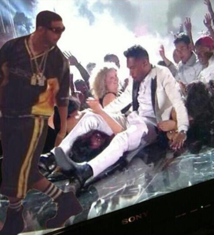 Miguel Drop Kick WIth Drake