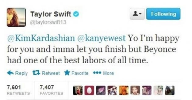 taylor swift fake tweet