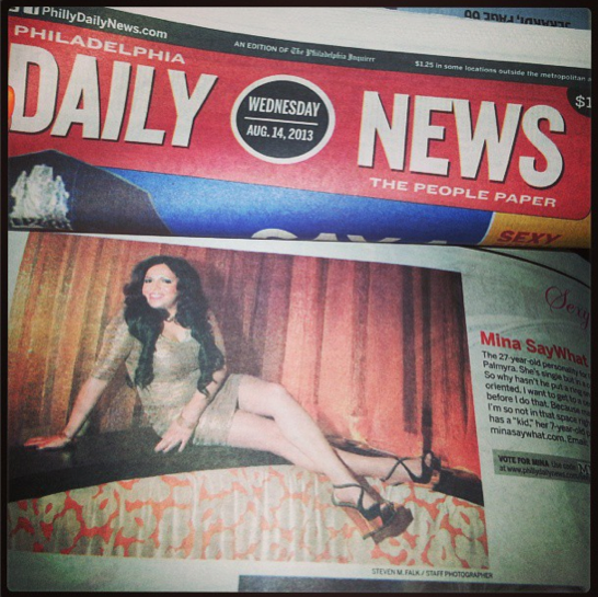 Mina SayWhat in Philly Daily News