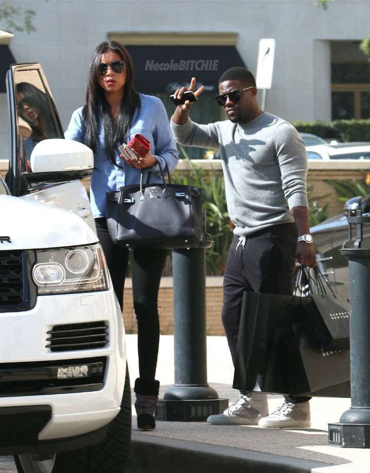 Kevin Hart and Eniko Shopping Barneys