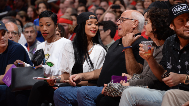 Rihanna At Oklahoma City Thunder v Los Angeles Clippers
