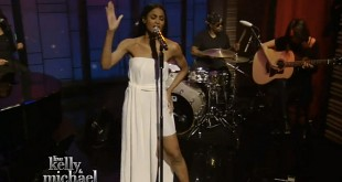 Ciara-Live-Kelly-and-Michael-I-Bet-2015-Jackie-white-dress-thigh