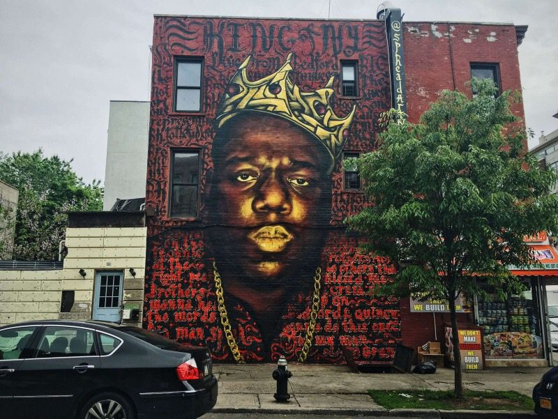 News famous notorious b i g mural won 39 t be destroyed for Biggie smalls mural brooklyn