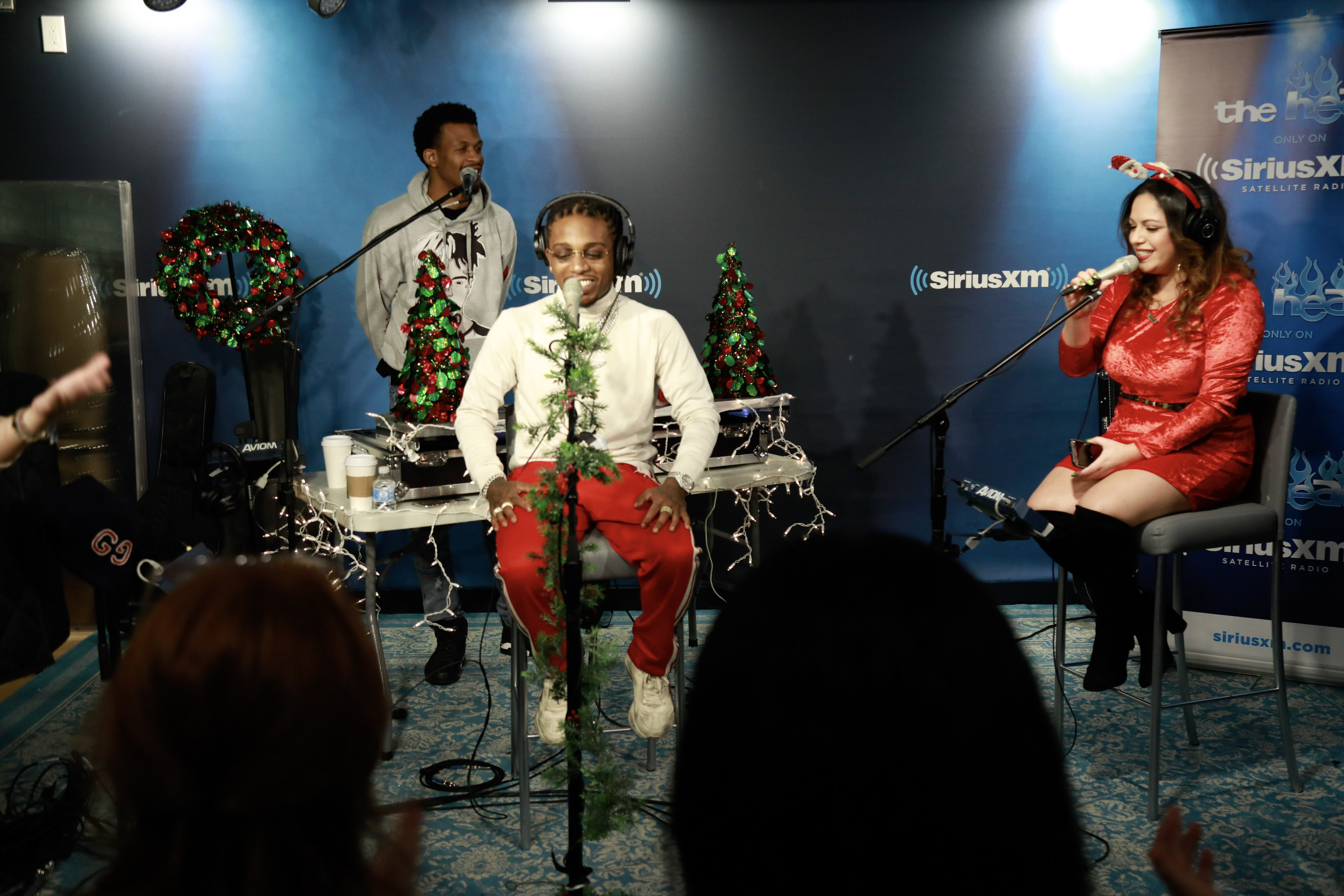 """R&B Artist Jacquees stopped by Mina's House on SiriusXM The Heat to talk to Mina SayWhat on Christmas Day for """"A Heat Holiday With Jacquees."""
